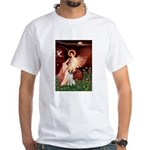 Angel/Brittany Spaniel White T-Shirt
