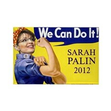 Sarah Palin We Can Do It Rectangle Magnet (10 pack