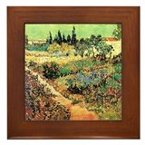 Van Gogh Ceramic Art Framed Tile Flowering Garden