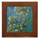 Van Gogh Ceramic Art Framed Tile Blossoming Almond