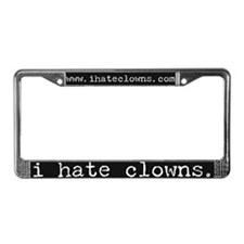 i hate clowns black License Plate Frame