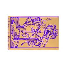 Fortune Wheel, Tarot Rectangle Magnet