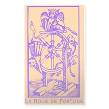 Fortune Wheel, Tarot Rectangle Decal