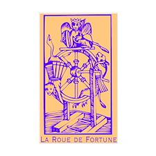 Fortune Wheel, Tarot Rectangle Decal