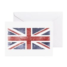 BRITISH UNION JACK (Old) Greeting Cards (Package o