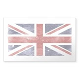 BRITISH UNION JACK (Old) Rectangle Decal