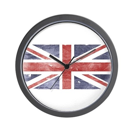 BRITISH UNION JACK (Old) Wall Clock