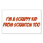 Scrappy Kid From Scranton Rectangle Sticker 10 pk