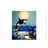 Funny Killer whale Postcards (Package of 8)