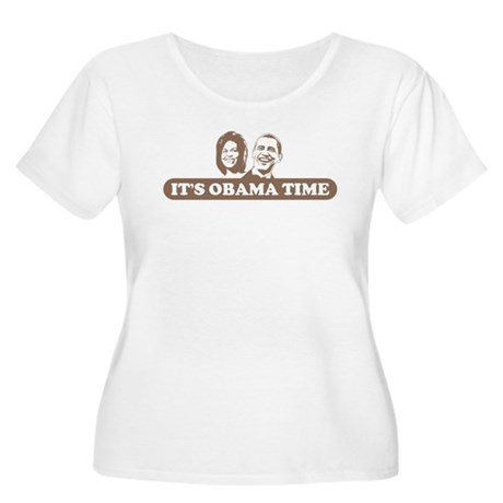 It's Obama Time Women's Plus Size Scoop Neck T-Shi