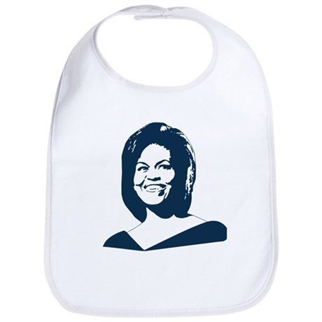 Michelle Obama (face) Bib