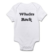 Whaless rock] Infant Bodysuit