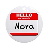 Hello my name is Nora Ornament (Round)