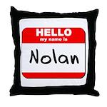 Hello my name is Nolan Throw Pillow