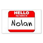 Hello my name is Nolan Rectangle Sticker