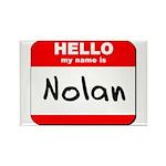 Hello my name is Nolan Rectangle Magnet