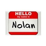 Hello my name is Nolan Rectangle Magnet (10 pack)
