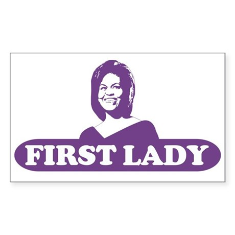 First Lady - Michelle Obama Rectangle Sticker