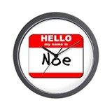 Hello my name is Noe Wall Clock