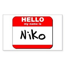 Hello my name is Niko Rectangle Decal