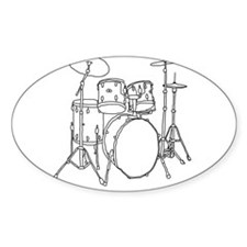 Drumset Oval Decal