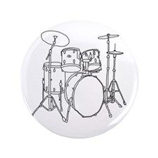 "Drumset 3.5"" Button (100 pack)"