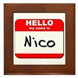 Hello my name is Nico Framed Tile