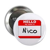 "Hello my name is Nico 2.25"" Button (10 pack)"