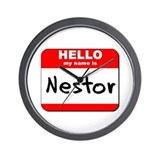 Hello my name is Nestor Wall Clock