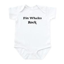 Fin Whaless rock Infant Bodysuit