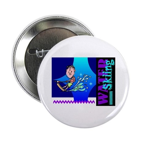 "Water Skiing 2.25"" Button"