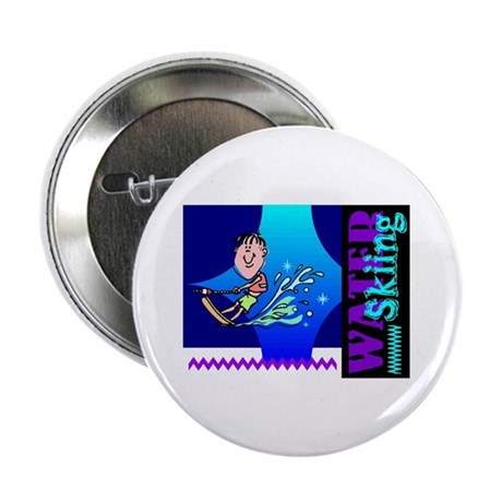 "Water Skiing 2.25"" Button (10 pack)"