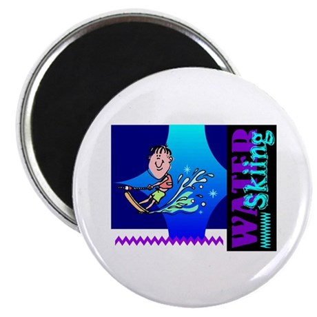 "Water Skiing 2.25"" Magnet (100 pack)"