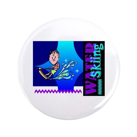 "Water Skiing 3.5"" Button (100 pack)"