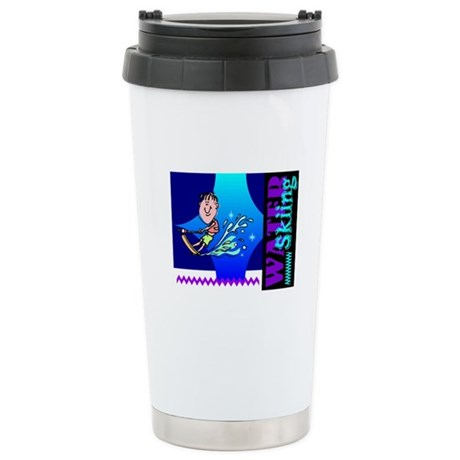 Water Skiing Ceramic Travel Mug