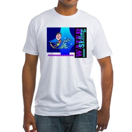 Water Skiing Fitted T-Shirt