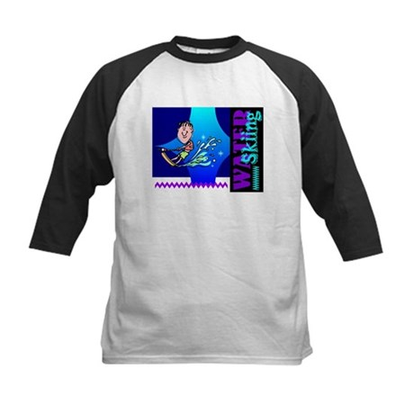 Water Skiing Kids Baseball Jersey