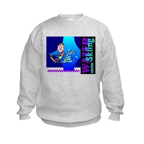 Water Skiing Kids Sweatshirt