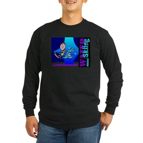 Water Skiing Long Sleeve Dark T-Shirt