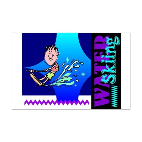 Water Skiing Mini Poster Print