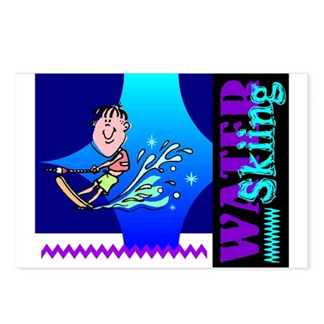 Water Skiing Postcards (Package of 8)