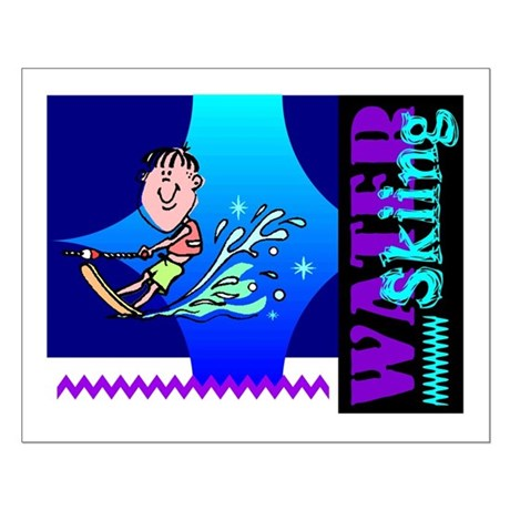 Water Skiing Small Poster
