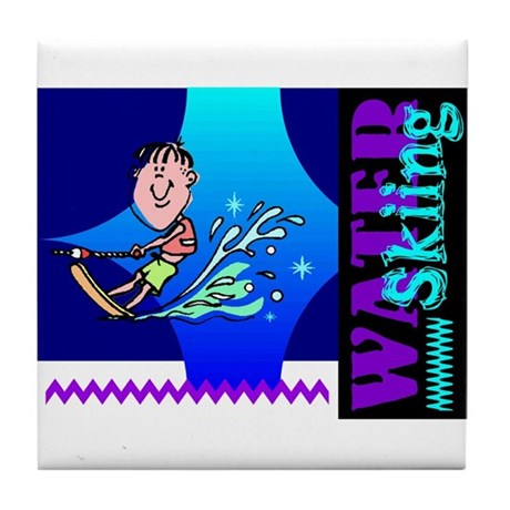 Water Skiing Tile Coaster