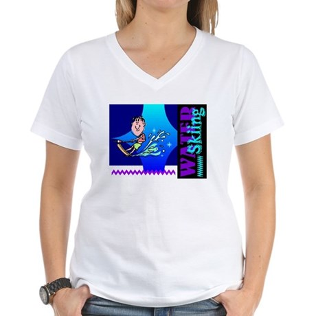 Water Skiing Women's V-Neck T-Shirt