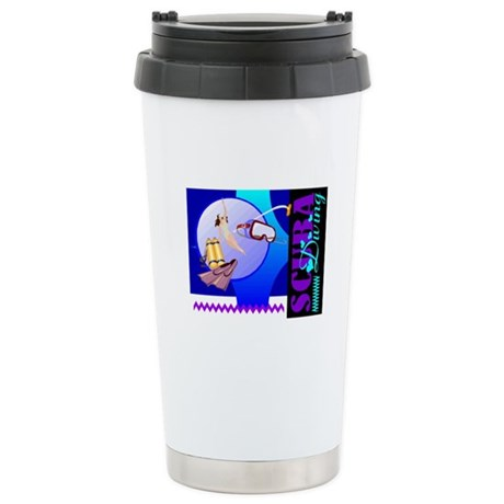 Female Scuba Diving Ceramic Travel Mug