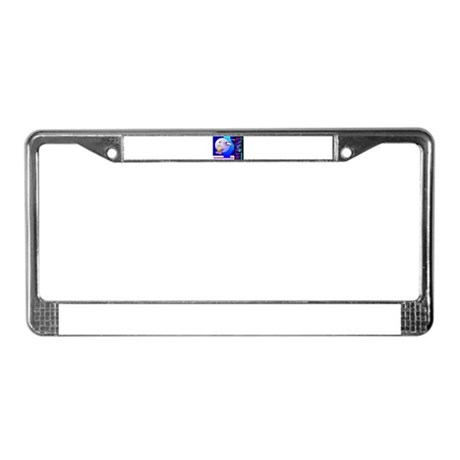 Female Scuba Diving License Plate Frame