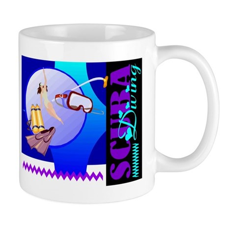 Female Scuba Diving Mug