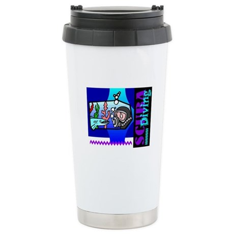Scuba Diving Ceramic Travel Mug