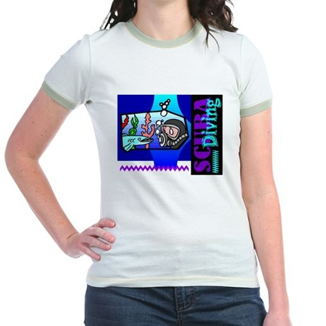Scuba Diving Jr. Ringer T-Shirt