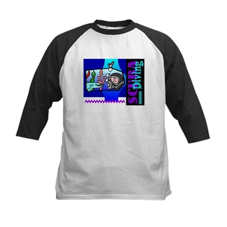 Scuba Diving Kids Baseball Jersey